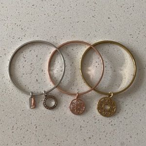 Coach 3-piece bangle bracelet set